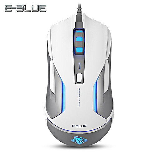 E - 3LUE M668 Wired Gaming Mouse 5000DPI LED Light-WHITE