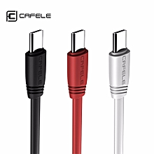 1.2m USB To Type-C Data Cable Cord For Mobile Phones 1.2M Black