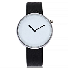 Lady  Leather Wrist Watch Vansvar Vansvar Women's Casual Quartz Leather Band Newv Strap Watch Analog Wrist Watch-Black
