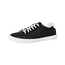 Dark Brown Men's PU Leather Sneakers