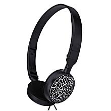 MS - 174 Mini Wired Stereo HiFi Music Headset Headphones-BLACK