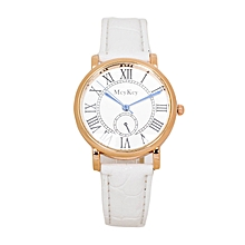 White PU Leather Strap Women's Mcykcy Watch.