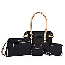 4 In 1 Oxford Cloth Women's Handbag Sing-shoulder Bag For Working Or Travlling (Black)