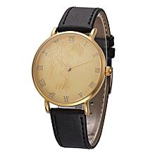 Fohting North Fashion Monkey Pattern Men Quartz Wrist Watch Leather Band Watch -