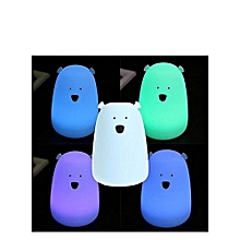 Night Light- 7 Color Changing, Cute Design, Rechargeable- Blue