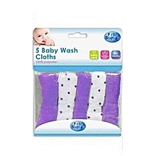 5 Baby Wash Soft Clothes Bath Towel 100% Polyester 0+ months