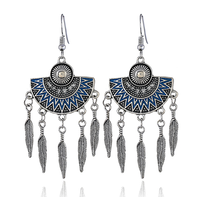 22224841d Fashion Jewelry Popular Leaf Hanging Designs Blue Earrings For Women ...