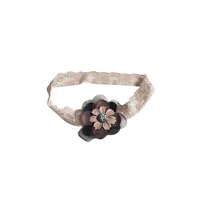 Braveayong Summer Wraped Ponytail Holder Flower Children Hair Baby Elastic  Hair Bands -Black 850cbf504b7