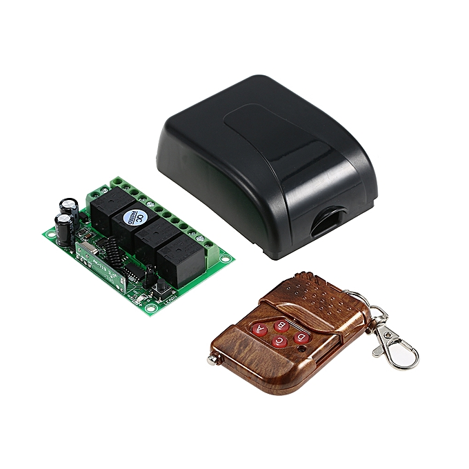 Smart Home 433Mhz RF DC 12V 4CH Learning Code Wireless Remote Control  Switch Relay Receiver Transmitter Universal Remote Switch System and Long  Range