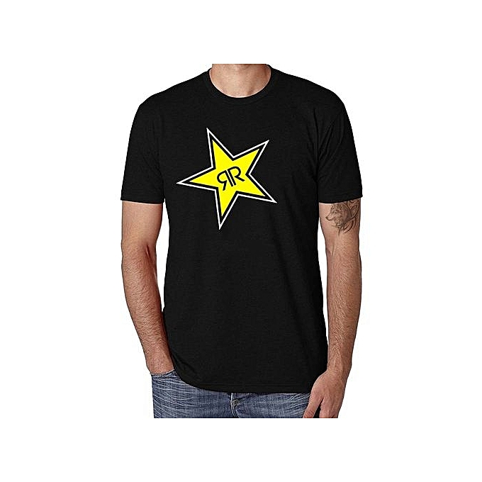 Rockstar Energy Drink Mx X-Ray Tee Shirt Men's Round Neck Short Sleeves Cotton T