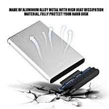 Hard Disk Case USB 3.0 Aluminum Hard Disk External HDD Enclosure Box Case( Silver)