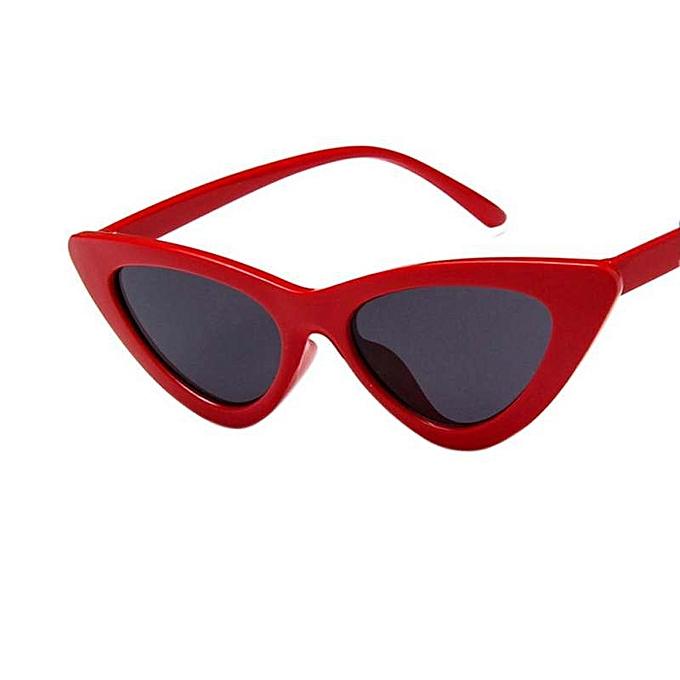 4687e2c2ea88 New Retro Triangle Cat Eye Sunglasses UV400 Clean Vision Glasses Eyewear  Valentine's Day Gift Lenses