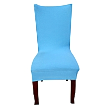 Solid Color Chair Covers Spandex Blue Elastic Chair Covers Pure Color Printing Chair Covers