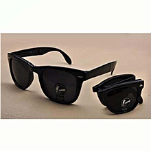 New Fashion Shatter-proof Folding Sunglasses Dazzling Sunglasses and Black Case