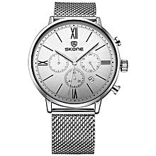 Relojes Dual Japan Quartz Movement Mens Casual Watches Men Brand Fashion Waterproof Watch Leather Wristwatch Montre Homme