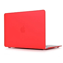 """For 12"""" Macbook Case, Matt Hard Rubberized Cover For A1534 Macbook 12 Inch, Red"""