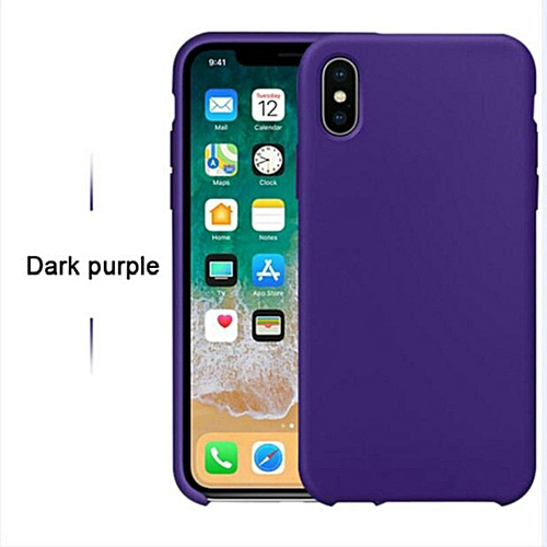 hot sale online 14ae7 e652c for iPhone 6 6S Plus phone case Have LOGO Official Style Silicone Case For  apple Cover Capa-Darkpurple
