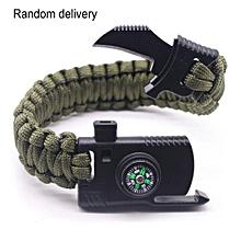 Multifunction Outdoor Survival Gear Escape Paracord Bracelet Camping Tool