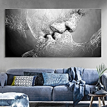 9cd7d43d035 Unframed Black Love Canvas Painting Print Picture Living Room Wall Art  Decor - Grey
