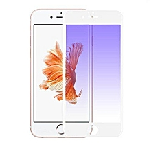 Anti Blue Light Full Covered Curved Tempered Glass Screen Protector For Apple IPhone 6 Plus / 6s Plus (White)