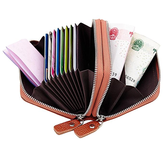 812c0c13b921 Women's Leather Secure Spacious Cute girl bag Double zipper Wallet