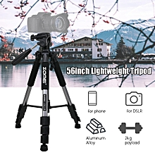 "142cm/56"" Lightweight Portable Aluminum Alloy Camera Tripod"