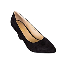Black Ladies Formal Wedges