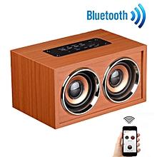 Wooden Portable Bluetooth Speaker Wireless Retro Bluetooth Speaker 3D -Brown
