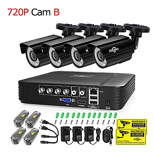 CCTV camera System 4CH 720P/1080P AHD security Camera DVR Kit CCTV  waterproof Outdoor home Video Surveillance System HDD(1T)