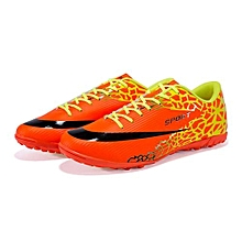 UL Football Outdoor Training Shoes-Orange & Red