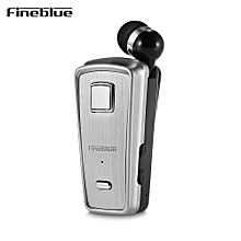 Fineblue F - 980 Retractable Wireless Bluetooth Earphones Clip-on Earbuds - SILVER