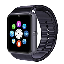 GT08 Smart Watch Clock Sync Notifier Support Sim Card Bluetooth Connectivity For Apple Smartwatch Phone For IOS Android OS Black