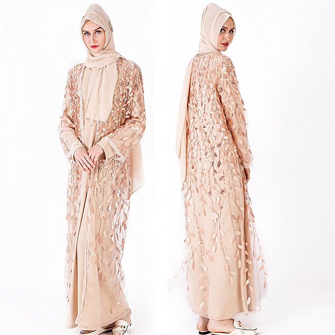 495d824f70bd7 Muslim Women Dress Islamic Long Sleeve Maxi Abaya Kaftan Arab Clothes