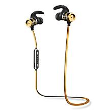 Bluetooth Wireless Stereo Headsets Waterproof Sports Earphone Headphones -Gold