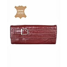 Maroon Buckle Purse