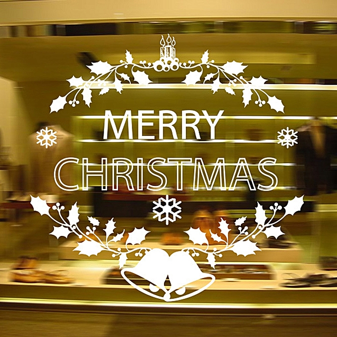 Merry Christmas Background Wall Decoration Removable Wall Stickers ...