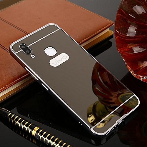 newest collection 416a7 6e5f1 For VIVO V9 Case Luxury Rose Gold Mirror Case For VIVO Y85 Back Cover For  Vivo V9 Cover (Black)