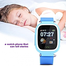 SOS Anti-Lost Watch Wristwatch GPS Locator Baby Safe Child With WiFi Blue Russian