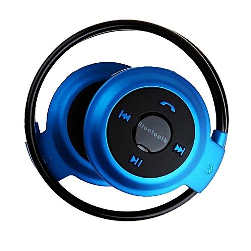 Bluetooth 4.0 Wireless Headset Stereo Deep bass effect On-Ear Headphones(Blue) DQ-M