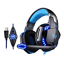 G2200 USB 7.1 Surround Sound Vibration Game Gaming Headphone With Microphone LED Light