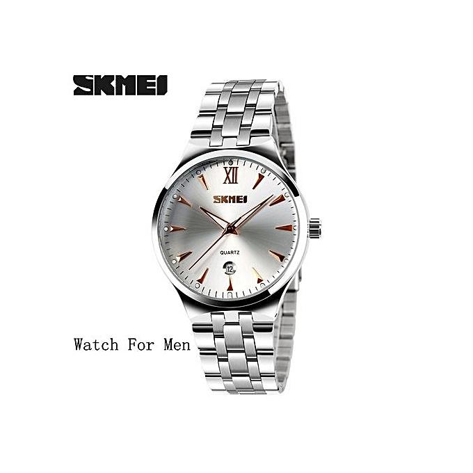 279e6c98011 Suitable SKMEI Mens Watches Top Brand Luxury Fashion Casual Watch Men s  Quartz Watches Dress Wristwatches Steel ...