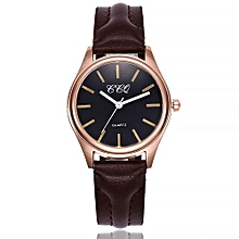 Lady  Leather Wrist Watch CCQ CCQ Women's Casual Quartz Leather Band Newv Strap Watch Analog Wrist Watch-Brown