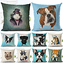 Honana 45x45cm Home Decoration Cartoon Cat Dog Animals Design 10 Optional Patterns Pillow Case
