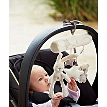 Cute Rabbit Baby Infant Toys Car Seat Bed Hanging Musical Cartoon Plush Toys