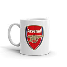 Arsenal FC White Ceramic Mug 11oz