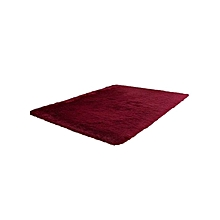 Fluffy Rugs Anti-Skid Shaggy Area Rug Dining Home Bedroom Carpet Floor Mat Red