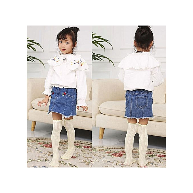 1636197154f ... Braveayong 1 Pairs Cotton Knee High Socks Casual Stockings For Baby  Boys Girls Toddler Kids -