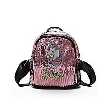 Horse Initial Flip Sequin MINI Backpack Girls School Bag Shoulder Bag  Lunchbox Blue Pink  50aa7e50bb03a