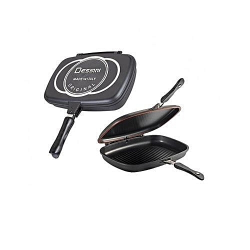 Articles Pour Le Four Double-sided Frying Pan Non-stick Barbecue Cooking Tool