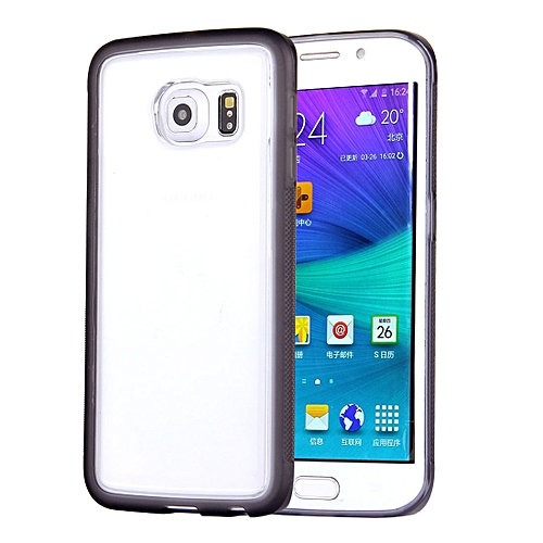 For Galaxy S6 Edge / G925 Anti-Gravity Magical Nano-suction Technology  Sticky Selfie Protective Case(Grey)